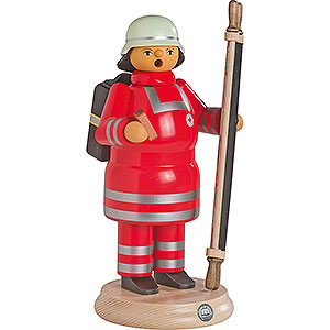 Smokers Professions Smoker - Red Cross Paramedic with Stretcher - 24 cm / 9.4 inch