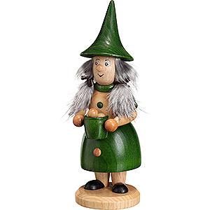 Smokers Hobbies Smoker - Rooty-Dwarf Dumpling Woman Green - 18 cm / 7.1 inch