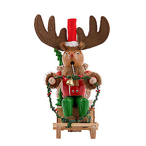 Smokers Famous Persons Smoker - Rudolph with Sleigh - 25 cm / 10 inch