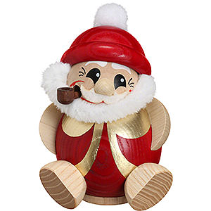 Smokers Santa Claus Smoker - Santa Claus Red-Gold - Ball Figure - 11 cm / 4.3 inch
