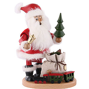 Smokers Santa Claus Smoker - Santa Claus with Railway - 22 cm / 9 inch