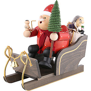 Smokers Santa Claus Smoker - Santa Claus with Sleigh - 30 cm / 12 inch