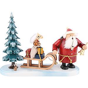 Smokers Santa Claus Smoker - Santa Comes - 21 cm / 8 inch