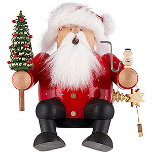 Smokers Santa Claus Smoker - Santa - Edge Stool - 16 cm / 6.3 inch