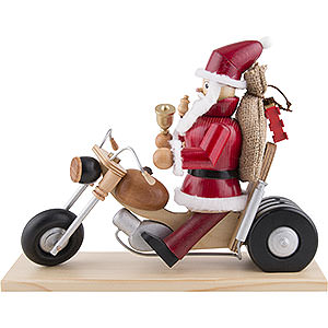Smokers Santa Claus Smoker - Santa on Motorbike - 21 cm / 8 inch