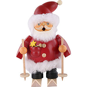 Smokers Santa Claus Smoker - Santa on Ski - 14 cm / 6 inch