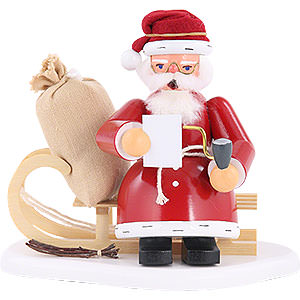 Smokers Santa Claus Smoker - Santa on Sleigh - 15 cm / 6 inch