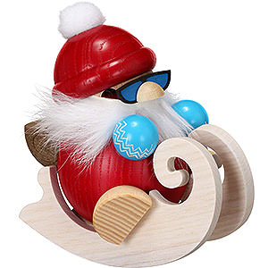 Smokers Santa Claus Smoker - Santa with Sleigh - Ball Figure - 12 cm / 4.7 inch
