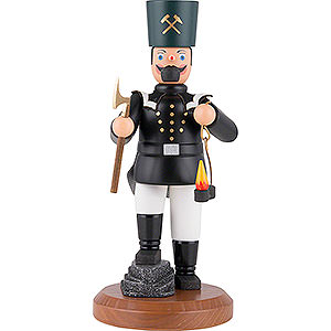 Smokers Professions Smoker -Saxon Miner in Dress Uniform with Cocked Leg - 22 cm / 8.7 inch