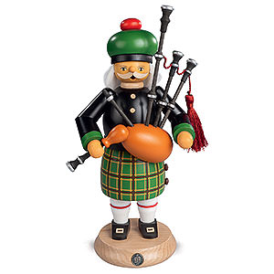 Smokers Hobbies Smoker - Scotsman in Highland Costume with Bagpipe - 27 cm / 11 inch