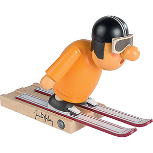 Smokers Professions Smoker - Ski Jumper with original Signature by Jens Weißflog - 16 cm / 6.3 inch