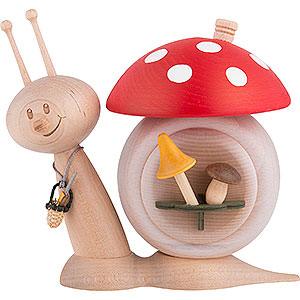 Smokers Animals Smoker - Snail Sunny Mushroom Snail - 16 cm / 6.3 inch