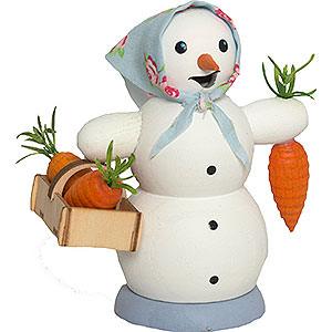 Smokers Snowmen Smoker - Snow Woman with Carrot Bucket - 13 cm / 5.1 inch
