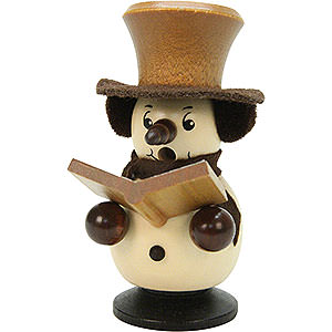 Smokers Snowmen Smoker - Snowboy Singer Natural Colors - 10,5 cm / 4 inch