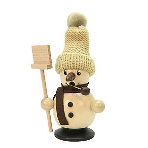 Smokers Snowmen Smoker - Snowboy with Snow Shovel Natural Colors - 12 cm / 5 inch