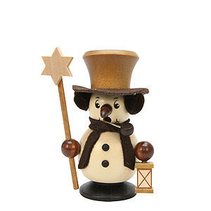 Smokers Snowmen Smoker - Snowboy with Star Natural Colors - 10,5 cm / 4 inch