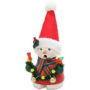 Smokers Snowmen Smoker - Snowman Santa Claus - 14 cm / 6 inch