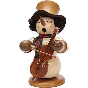 Smokers Snowmen Smoker - Snowman with Bass Natural - Limited - 23 cm / 9.1 inch