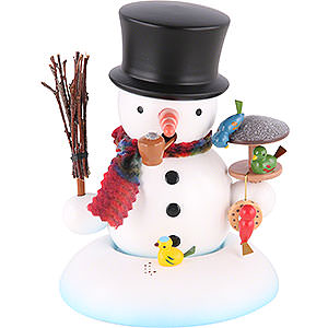 Smokers Snowmen Smoker - Snowman with Bird House - 15 cm / 6 inch