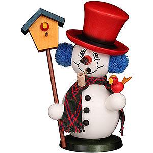 Smokers Snowmen Smoker - Snowman with Bird House - 23 cm / 9.1 inch