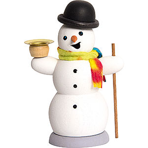 Smokers Snowmen Smoker - Snowman with Candle - 13 cm / 5.1 inch