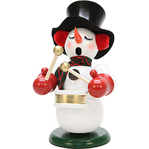 Smokers Snowmen Smoker - Snowman with Drum - 23,5 cm / 9.2 inch