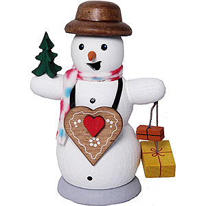 Smokers Snowmen Smoker - Snowman with Ginger Bread Heart - 13 cm / 5.1 inch