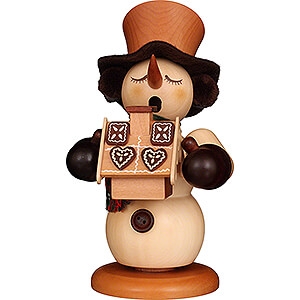 Smokers Snowmen Smoker - Snowman with Gingerbread House Natural - 23,5 cm / 9.3 inch