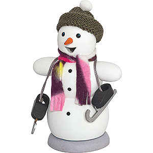 Smokers Snowmen Smoker - Snowman with Ice Skates - 13 cm / 5.1 inch