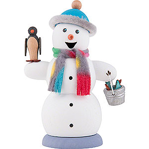 Smokers Snowmen Smoker - Snowman with Penguin - 13 cm / 5.1 inch