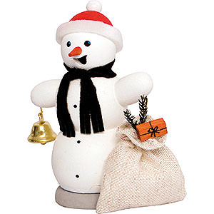 Smokers Snowmen Smoker - Snowman with Present Sleigh - 13 cm / 5.1 inch