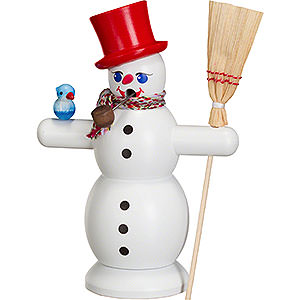 Smokers Snowmen Smoker - Snowman with Red Hat - 16 cm / 6 inch