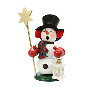 Smokers Snowmen Smoker - Snowman with Star - 23 cm / 9 inch