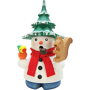 Smokers Snowmen Smoker - Snowman with Tree - 11,5 cm / 4.5 inch