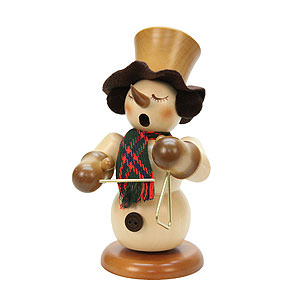 Smokers Snowmen Smoker - Snowman with Triangle Natural Colors - 23 cm / 9 inch