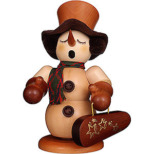 Smokers Snowmen Smoker - Snowman with Violin Case Natural - 23 cm / 9.1 inch