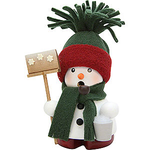 Smokers Snowmen Smoker - Snowmann Green - 12,5 cm / 4.9 inch