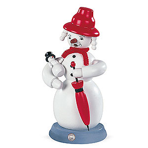 Smokers Snowmen Smoker - Snowwoman - Colored - 23 cm / 9 inch