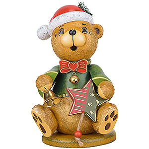 Small Figures & Ornaments Animals Bears Smoker - Teddy Christmas Claus - 20 cm / 7.8 inch