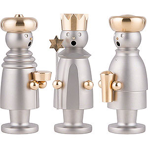 Smokers Famous Persons Smoker - The Three Wise Men - Stainless Steel, Glass Bead blasted - 15 cm / 5.9 inch