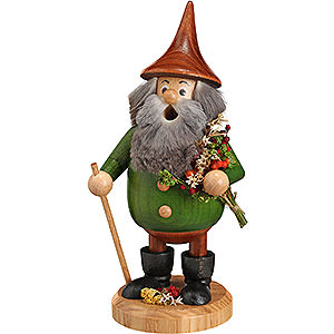 Smokers Misc. Smokers Smoker - Timber-Gnome Herb-Gnome Green - Hat Brown - 15 cm / 6 inch