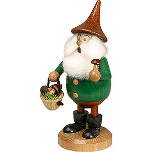 Smokers Hobbies Smoker - Timber-Gnome Mushroom Foray Green - Hat Brown - 15 cm / 6 inch
