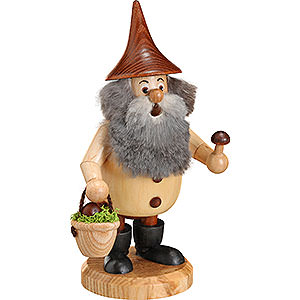 Smokers Hobbies Smoker - Timber-Gnome Mushroom Foray Natural Colors - Hat Brown - 15 cm / 6 inch