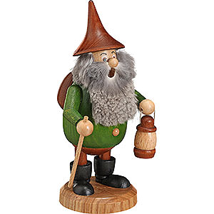 Smokers Hobbies Smoker - Timber-Gnome Wanderer Green - Hat Brown - 15 cm / 6 inch