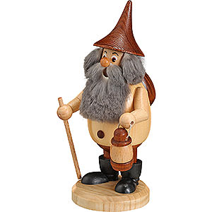 Smokers Hobbies Smoker - Timber-Gnome Wanderer Natural Colors - Hat Brown - 15 cm / 6 inch