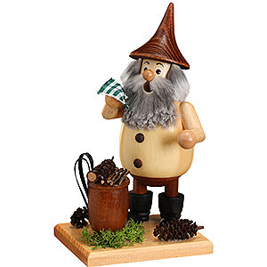 Smokers Hobbies Smoker - Timber-Gnome Wood Gatherer on a Board - 15 cm / 6 inch