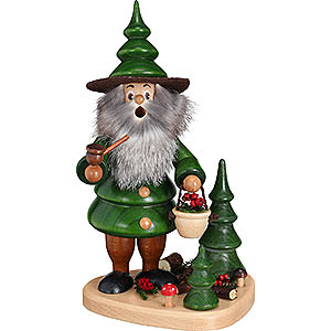 Smokers Hobbies Smoker - Tree Gnome Berry Collector on Plateau - 21 cm / 8.3 inch