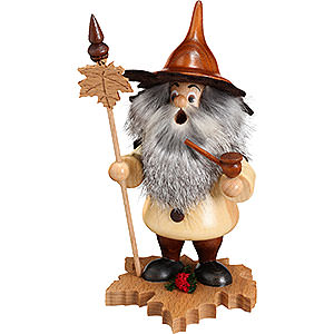 Smokers Misc. Smokers Smoker - Tree Gnome, Maple Leaf - 18 cm / 7 inch