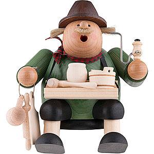 Smokers Professions Smoker - Woodcraft Seller - Shelf Sitter - 15 cm / 6 inch