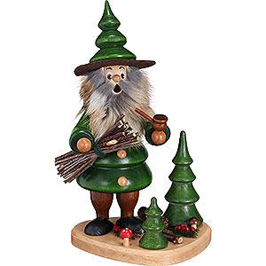 Smokers Hobbies Smoker - Woodman Holzsammler on Podest Green - 21 cm / 8.3 inch